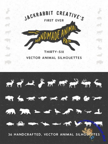 Creativemarket - Handmade Animal Silhouette Pack 160289