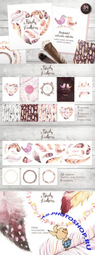Birds & Feathers collection - Creativemarket 261636