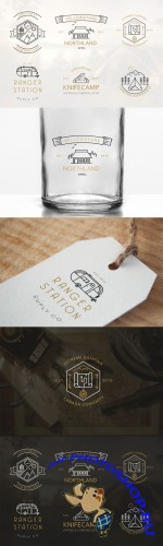 Creativemarket - Iconic Camping Logo Badges 270149