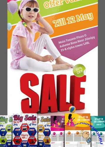Big Sale Offer Flyer Bundle part 1