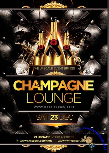 Champagne Lounge Party Flyer Templat