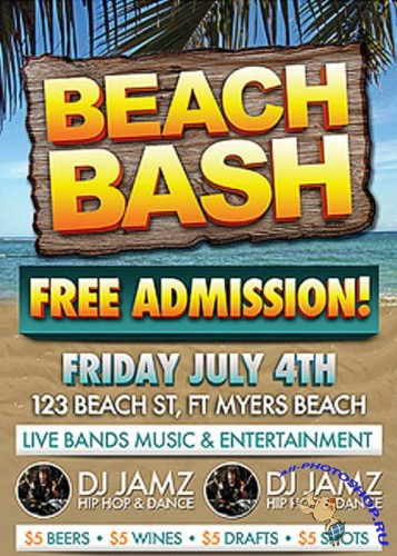 Beach Bash Flyer Bundle
