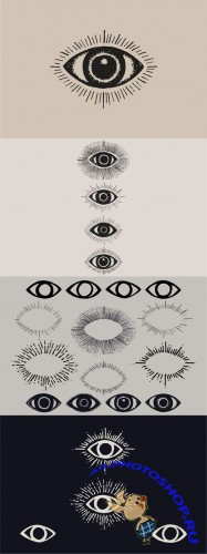 Creativemarket - Eye Drawings 102056