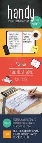 Handy - the hand drawn font - Creativemarket 188098