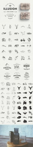Illusion: hand drawn collection - Creativemarket 59056