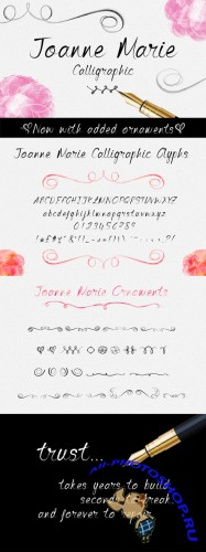Creativemarket - Joanne Marie Calligraphic Font 162714