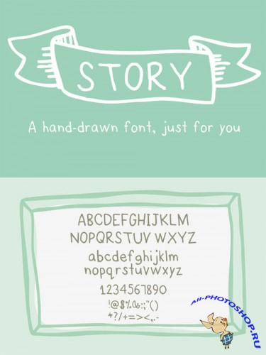 Story- a HandDrawn Font just for you - Creativemarket 26204
