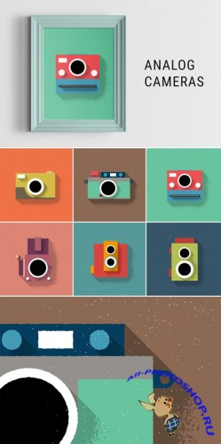 Creativemarket - Analog Cameras Illustration 203177