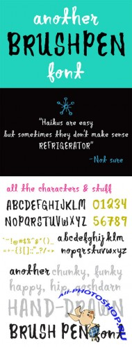 Creativemarket - Another Brush Pen Font 177796