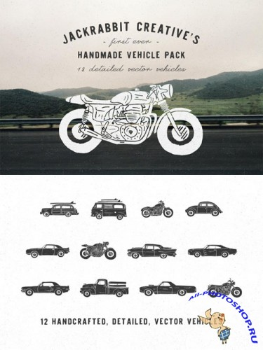 Creativemarket - Handmade Vehicle Pack 175571