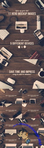 Creativemarket - 11 Hero Mockup Images 79192