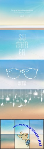 Creativemarket - Vector beach backgrounds 18992