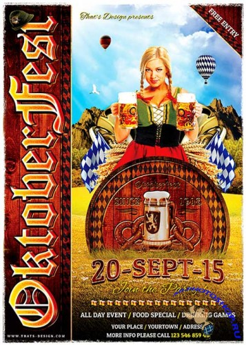Oktoberfest Flyer Bundle V3
