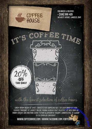 Coffee Shop Promotion Flyer Templat