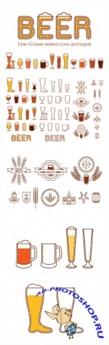 Beers, glasses and logos vol.2 - Creativemarket 246728