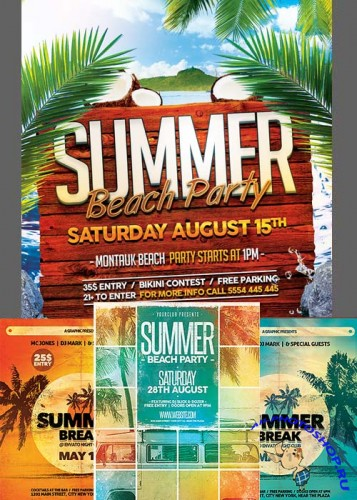 Summer Flyer Template + Facebook Cover