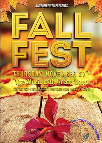 Fall Fes -Flyer Template