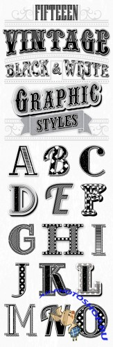 Graphicriver - Vintage Black and White Styles 6913638