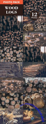WOOD LOGS (12 Premium Photos) - Creativemarket 317876