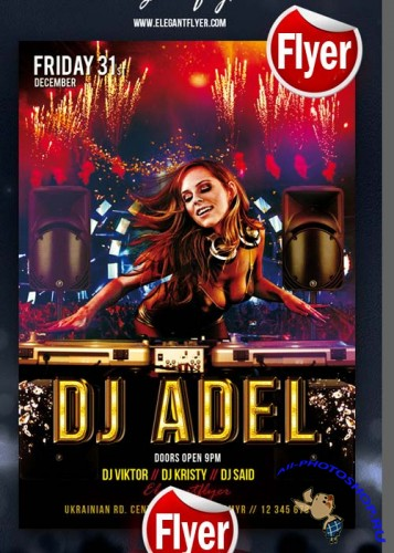 DJ Adel – Flyer Template