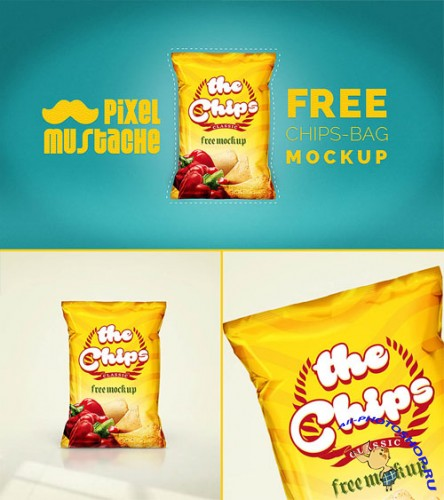 Chips Bag Mockup Template