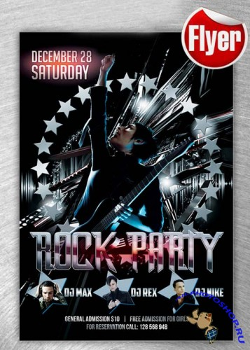 Rock Party Flyer Template