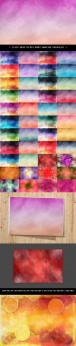 45 Watercolor Textures - Creativemarket 26481