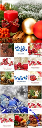 Christmas and New Year, backgrounds, winter - Stock photo