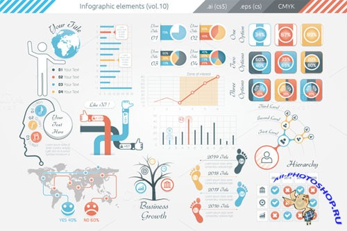 Infographic Elements (v10) - Creativemarket 95595