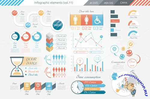 Infographic Elements (v11) - Creativemarket 115210