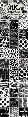 Creativemarket - Vector collection of ink patterns 353817