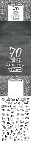 Creativemarket - Handlettered catchwords and elements 361709