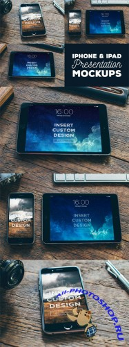 3 iPhone & iPad Presentation Mock-up Templates