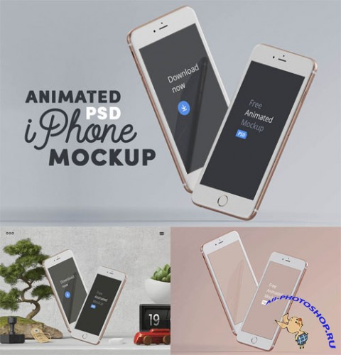 Animated iPhone Presentation Mock-up