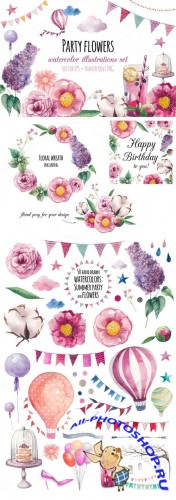 Creativemarket - Party flowers 311971