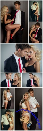Glamorous couple, woman, man - stock photos