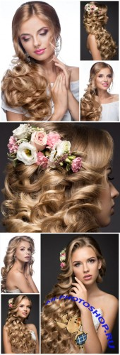 Bride with beautiful hairstyle - Stock photo