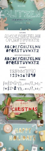 Creativemarket - Blitzen Display Font 421463