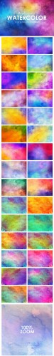 Creativemarket - 52 Watercolor Backgrounds 324748