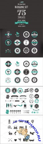 Blogging Set | templates, elements - Creativemarket 20066