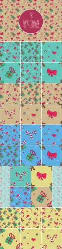 Creativemarket - Christmas patterns set 399098