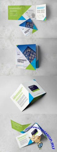 Creativemarket - Corporate Square Trifold Brochure 386413