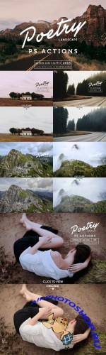 Creativemarket - Poetry Photoshop Landscape Actions 393479
