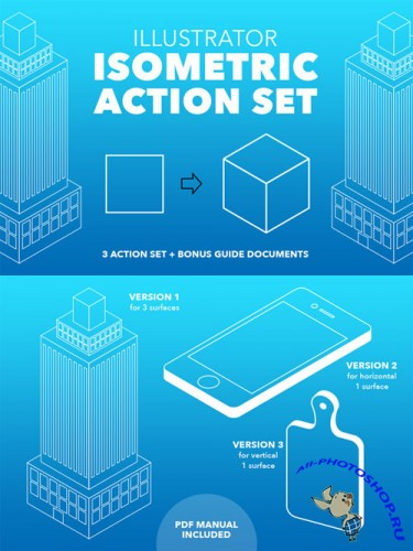 Creativemarket - Illustrator Isometric Action Set 416610