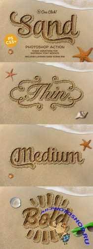 Creativemarket - Sand Photoshop Action 390953