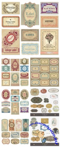 Vintage vector labels set