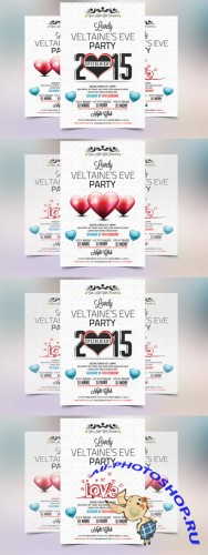 Valentines Eve 2015 Party Flyer - Creativemarket 173367