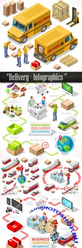 Delivery - Infographics design element