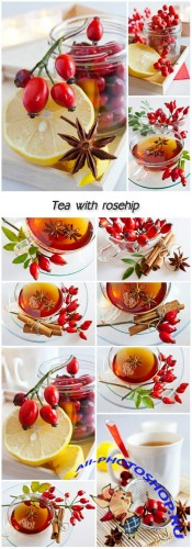 Tea with rosehip and lemon