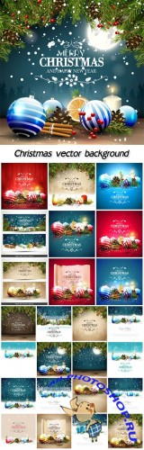 Christmas winter backgrounds, vector Christmas decoration